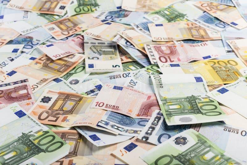 Gemengde rekeningen van Euro stock fotografie