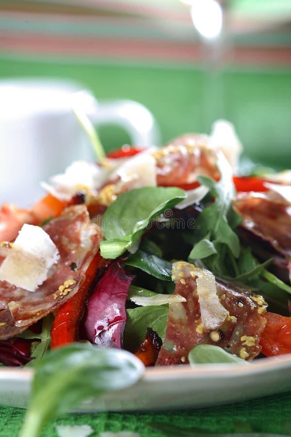 Gemengde salade op de plaat stock fotografie