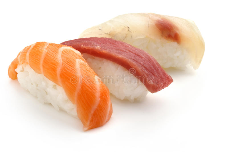 Gemengde sushi royalty-vrije stock afbeelding