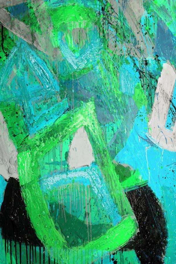 Gemengde technieken, het Abstracte schilderen stock afbeeldingen