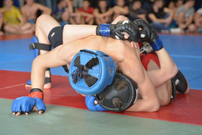 Gemengde Vechtsporten in Dnipropetrovsk stock foto's