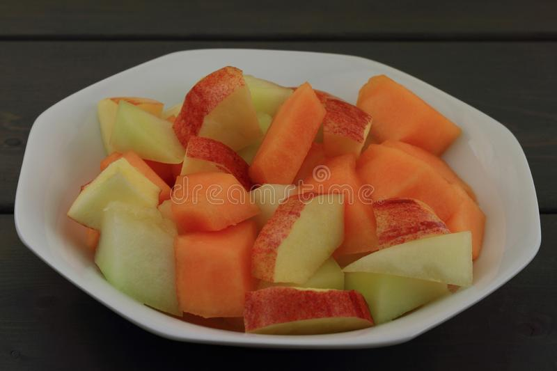 Gemengde vruchten salade stock foto's
