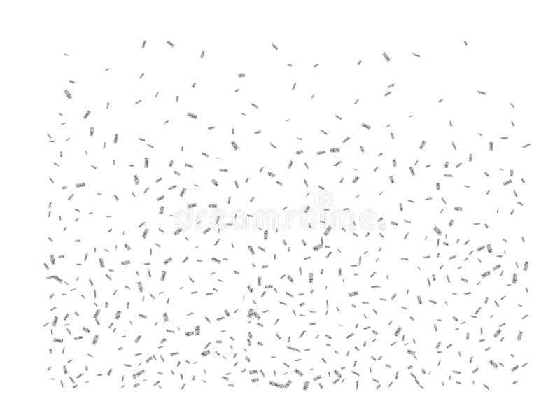 Gemensam pengarregnfantasi vektor illustrationer