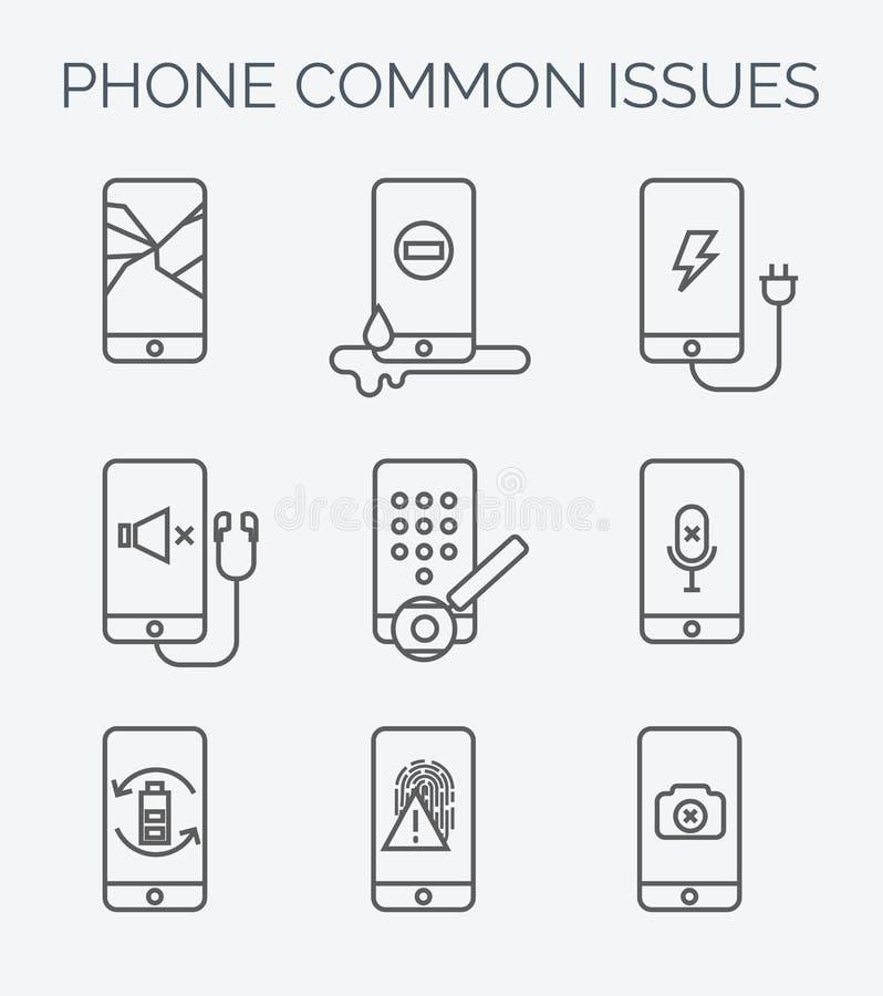 Gemensam telefonfrågelinje symboler arkivbilder