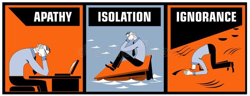 gemensamma kontorsproblem vektor illustrationer