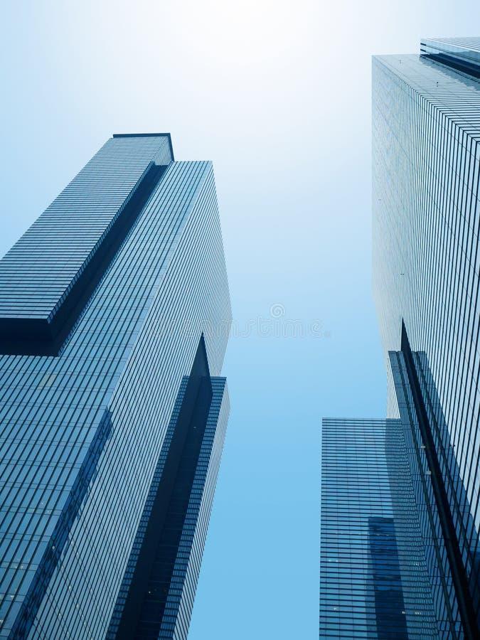 Gemensamma moderna affärsskyskrapor, royaltyfria bilder