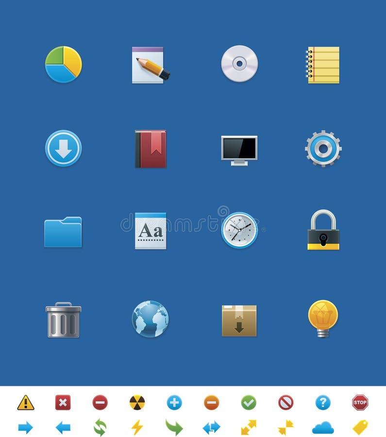 Gemensamma websitesymboler för vektor för webmasters stock illustrationer