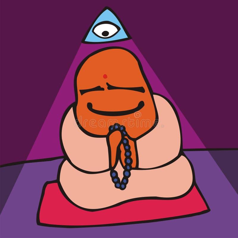 gemensamt meditationfolk vektor illustrationer