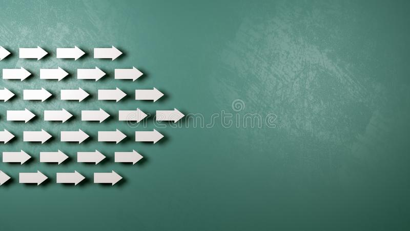 Gemensamt riktningsbegrepp vektor illustrationer