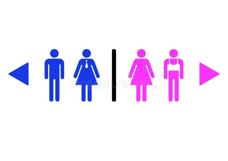 gemensamt toaletttecken vektor illustrationer