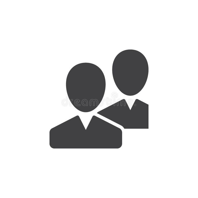Gemenskap användare, vänsymbolsvektor, fyllt plant tecken, fast pictogram som isoleras på vit stock illustrationer