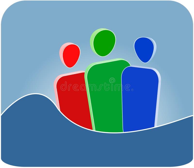 gemenskapsymbol stock illustrationer