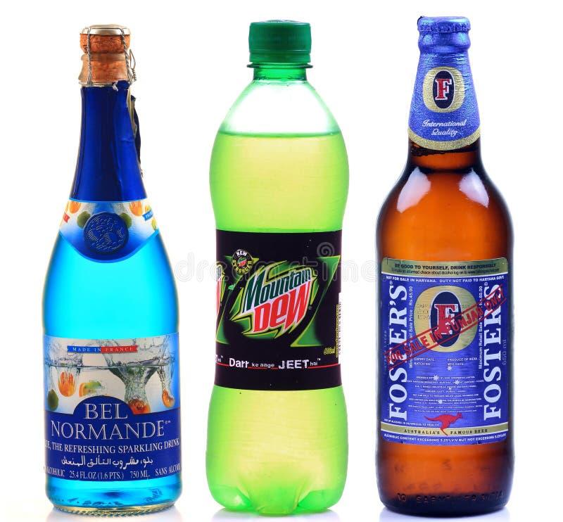 Gemerkte dranken royalty-vrije stock afbeelding