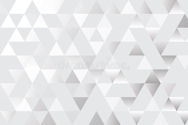Gemetric γκρίζο και άσπρο αφηρημένο υπόβαθρο τριγώνων, eps10 απεικόνιση αποθεμάτων