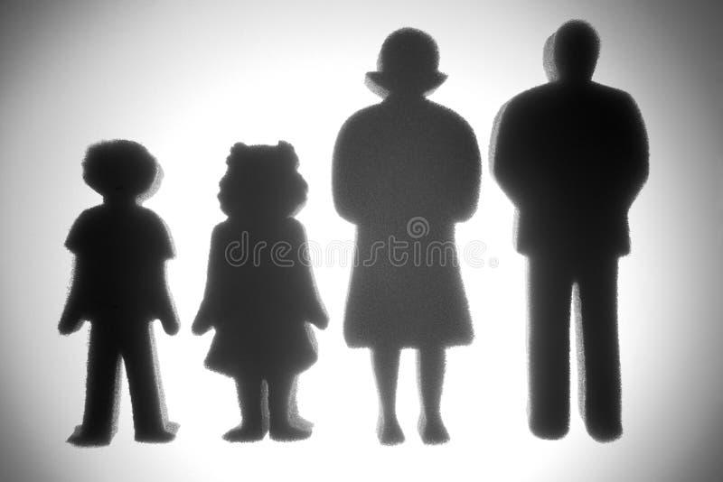Gemiddelde Familie royalty-vrije stock foto