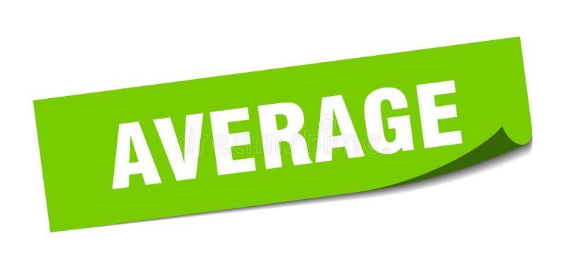 gemiddelde sticker stock illustratie