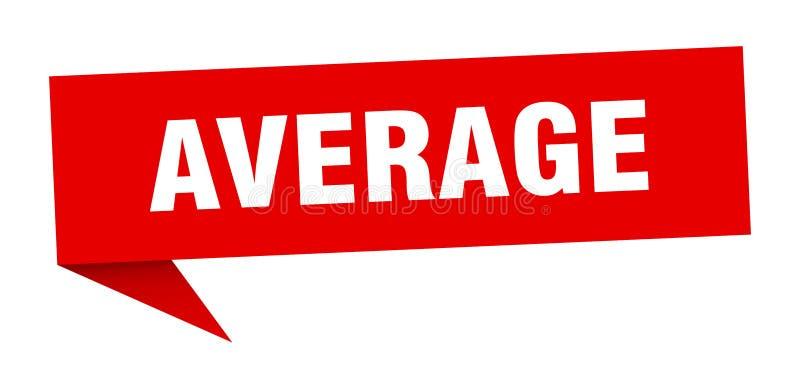 gemiddelde toespraakbel stock illustratie