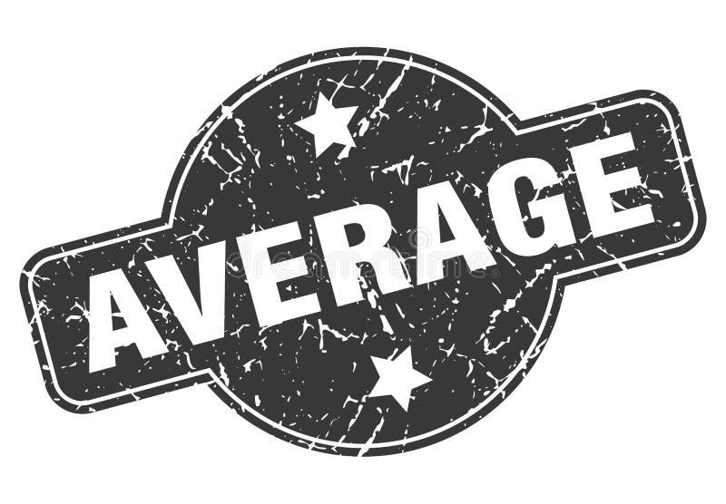 gemiddelde zegel royalty-vrije illustratie