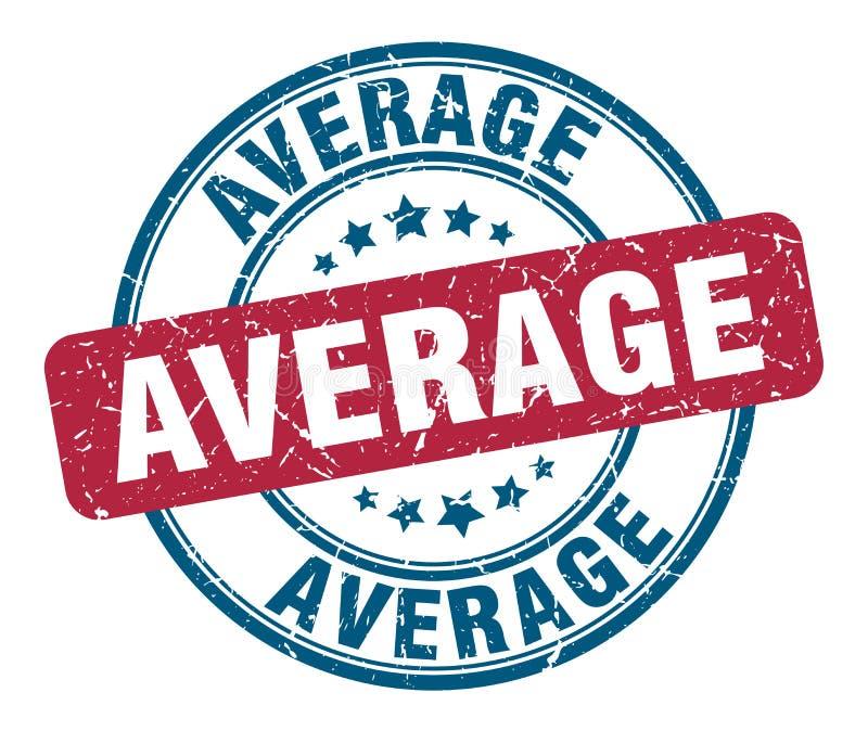 gemiddelde zegel stock illustratie