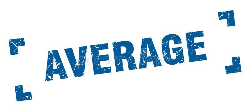 gemiddelde zegel vector illustratie