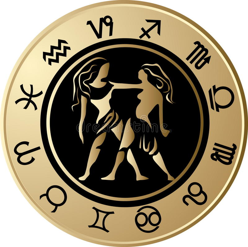 Gemini di Horoscope royalty illustrazione gratis