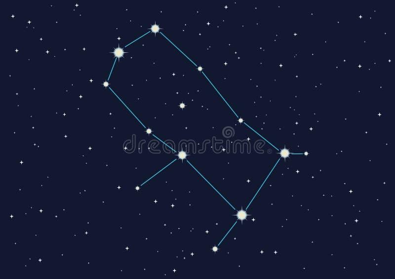gemini gwiazdozbiorze ilustracja wektor