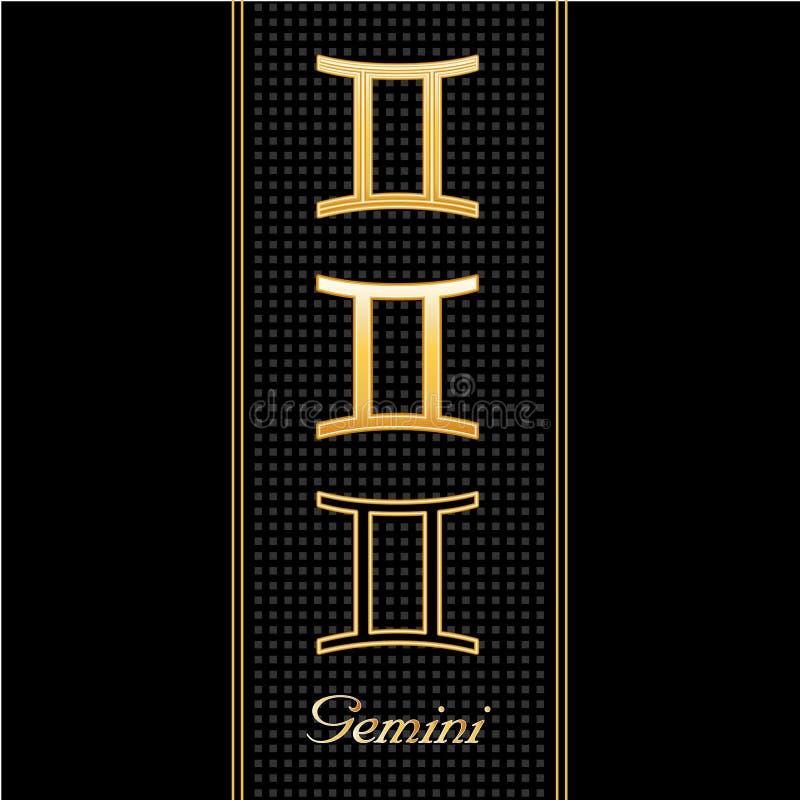 Download Gemini Horoscope Symbols stock vector. Image of charm - 7250145