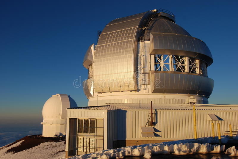 Gemini North Observatory on Mauna Kea summit royalty free stock image