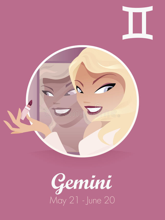 Gemini sign vector royalty free illustration