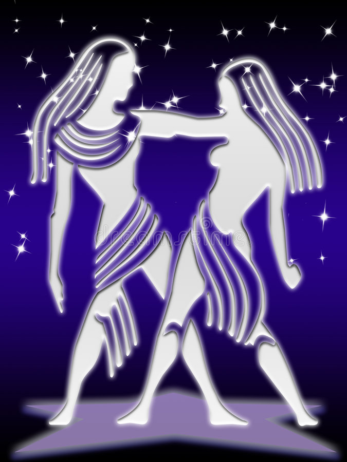 Gemini zodiac sign stock photography