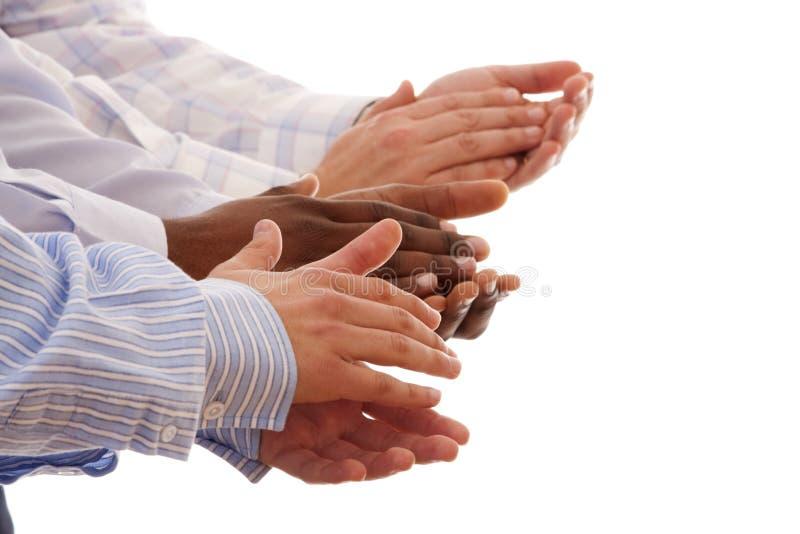 Gemischtrassige Hände stockfoto