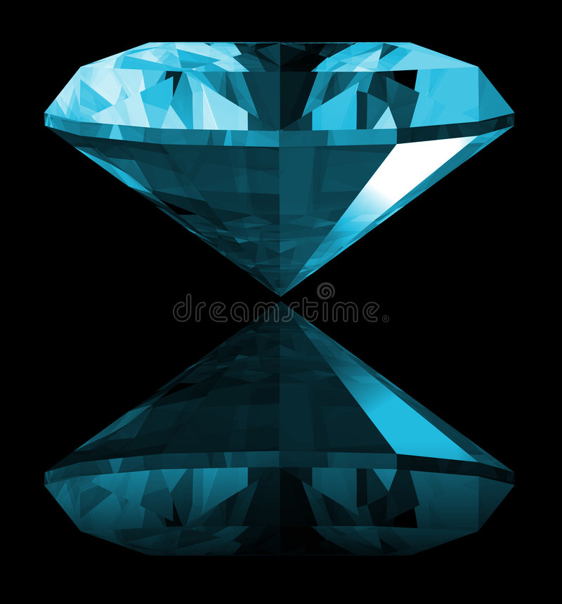 gemma del Aquamarine 3d isolata illustrazione vettoriale