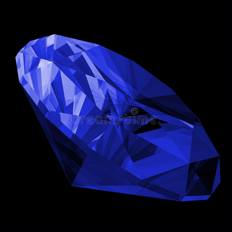 gemma dello zaffiro 3d isolata royalty illustrazione gratis
