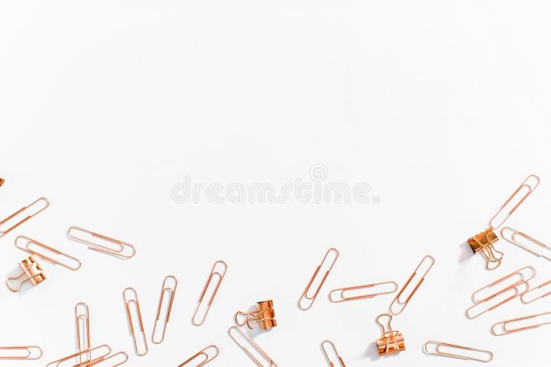 Gemmar f?rkopprar f?rg p? vit bakgrund fotografering för bildbyråer