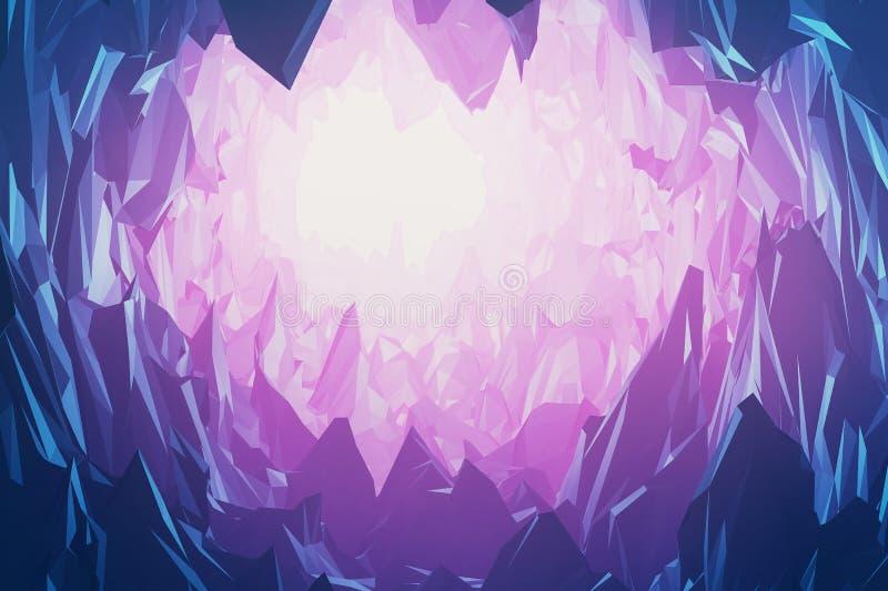 Gemmen en kristallenberg royalty-vrije illustratie