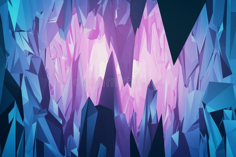 Gemmen en kristallenberg vector illustratie