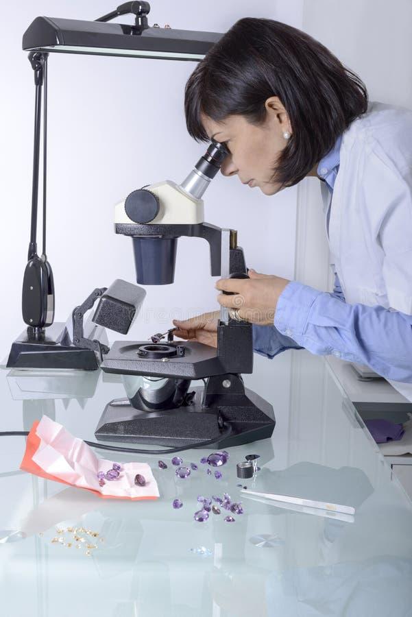 Gemologist fotografia stock