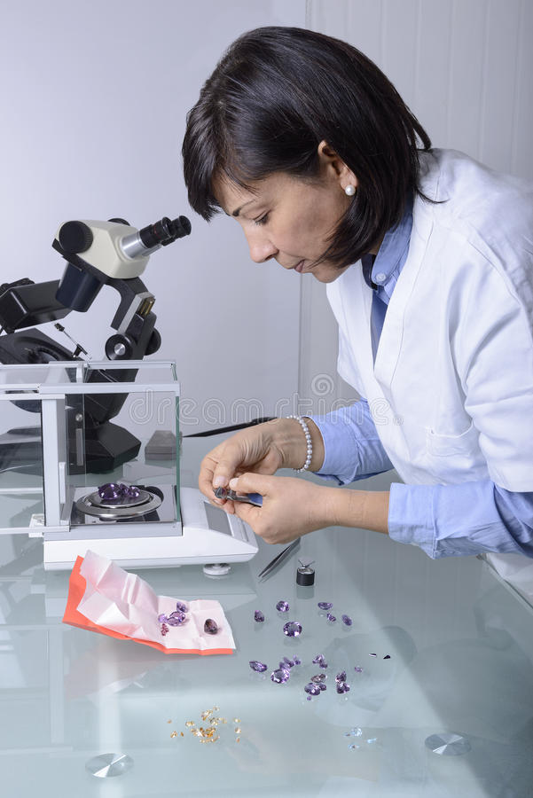 The gemologist stock images