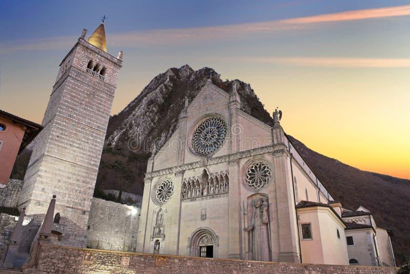 gemona udine собора стоковая фотография