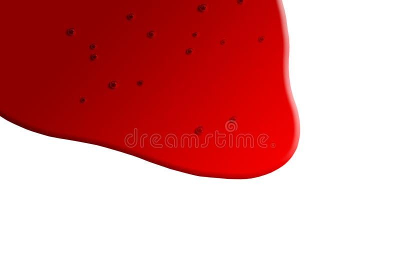 Gemorst Bloed vector illustratie