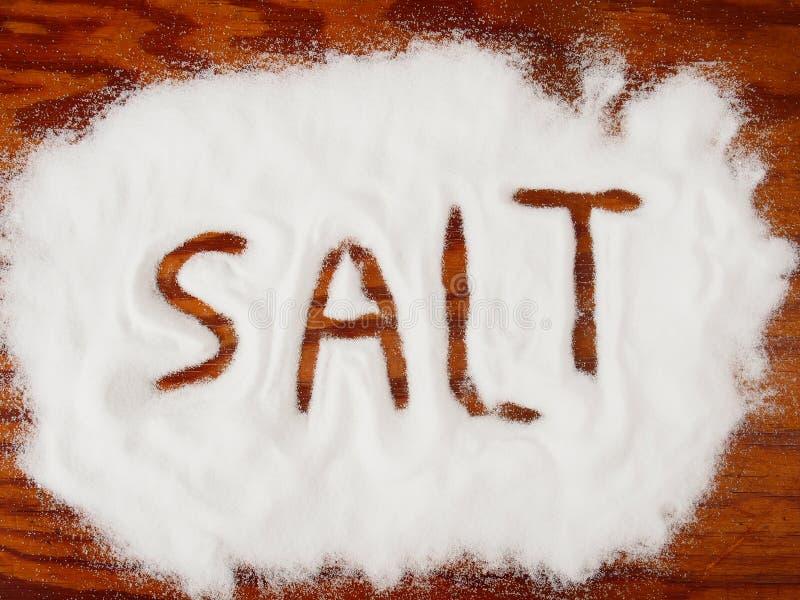 Gemorst zout stock foto's