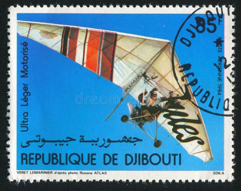 Gemotoriseerd Hang Gliders stock afbeelding