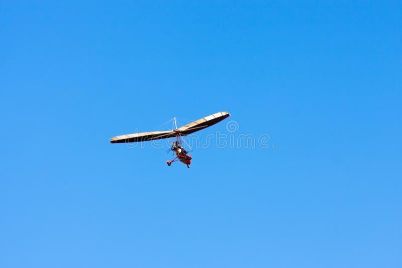 Gemotoriseerd zweefvliegtuig stock afbeelding