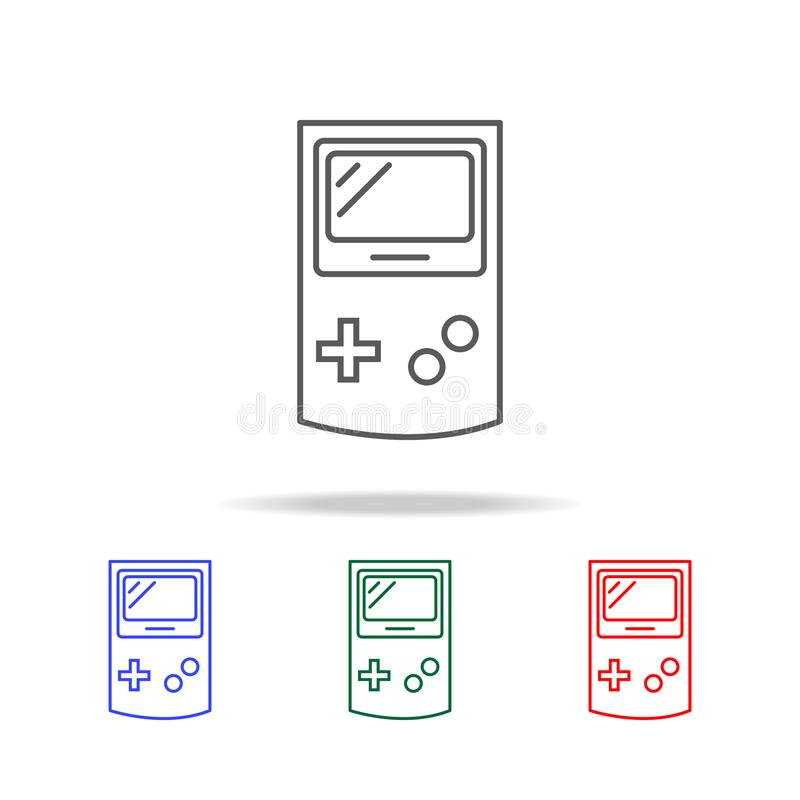 Gemowa konsoli ikona Elementy w wielo- barwionych ikonach dla mobilnych pojęcia i sieci apps Ikony dla strona internetowa projekt royalty ilustracja