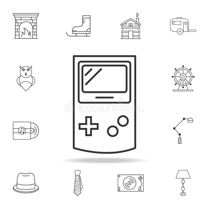 Gemowa konsoli ikona Szczegółowy set sieć znaki i ikony Premia graficzny projekt Jeden inkasowe ikony dla stron internetowych, si ilustracja wektor