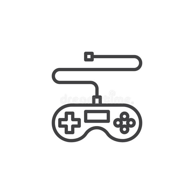 Gemowa kontroler linii ikona ilustracja wektor