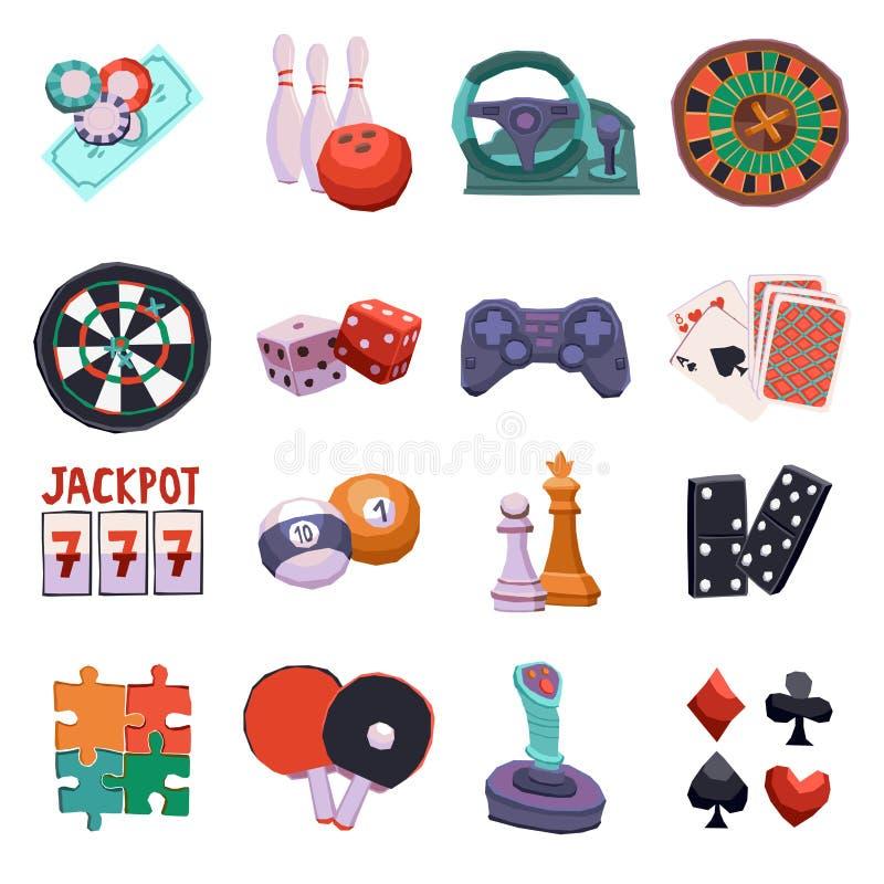 Gemowe ikony ustawiać ilustracji