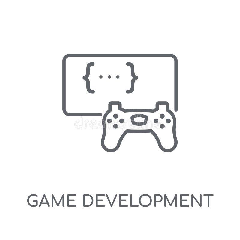 Gemowego rozwoju liniowa ikona Nowożytnego konturu rozwoju Gemowy lo ilustracja wektor