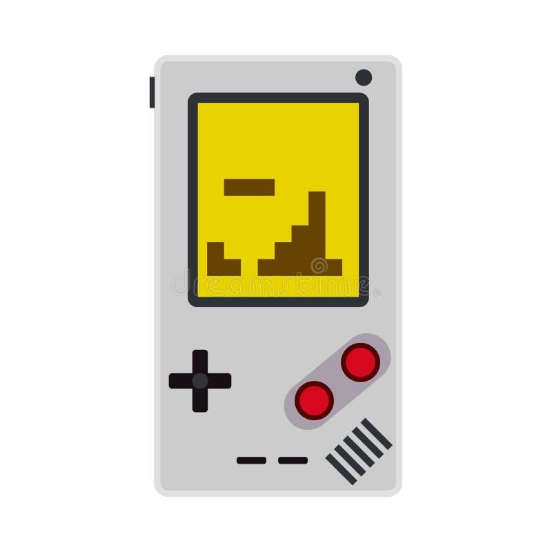 Gemowej konsoli wideo wektorowej ikony odgórny widok Hazardu joysticka kontroli guzika technologia Retro płaski przyrządu kontrol royalty ilustracja
