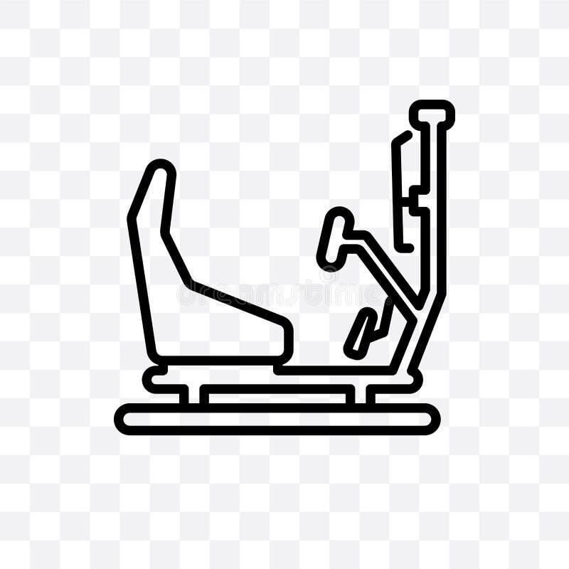 Gemowej maszyny wektorowa liniowa ikona odizolowywająca na przejrzystym tle, Gemowej maszyny przezroczystości pojęcie może używać royalty ilustracja